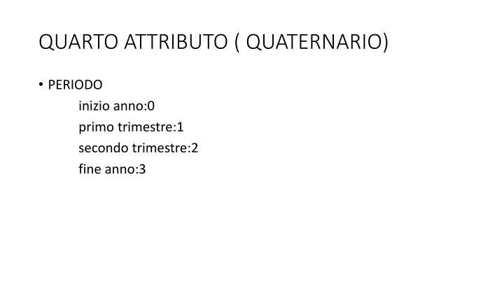 QUARTO ATTRIBUTO ( QUATERNARIO)