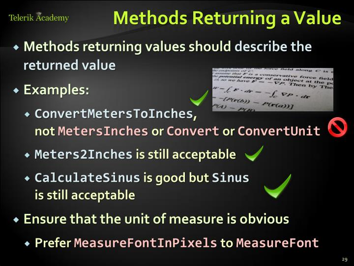 Methods Returning a Value