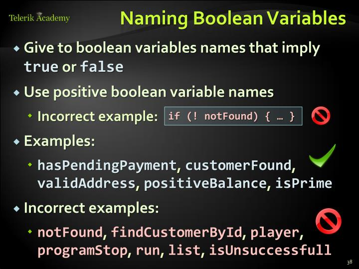 Naming Boolean Variables