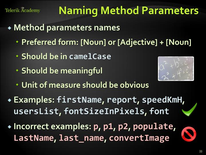 Naming Method Parameters