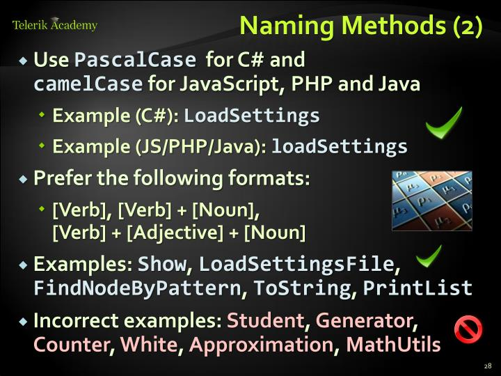 Naming Methods (2)