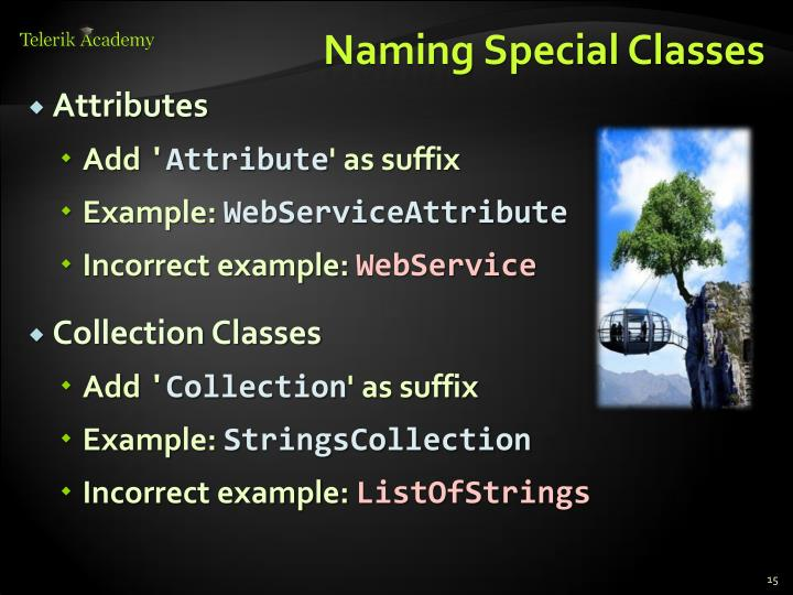 Naming Special Classes