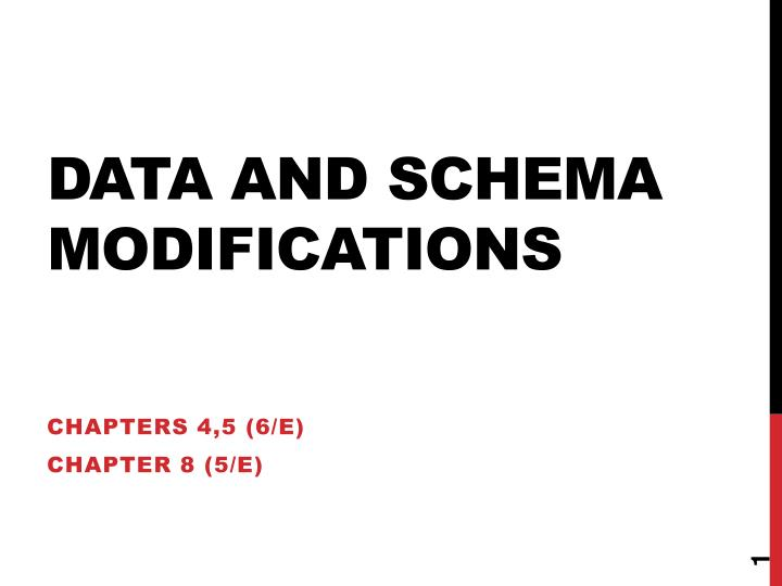 data and schema modifications n.
