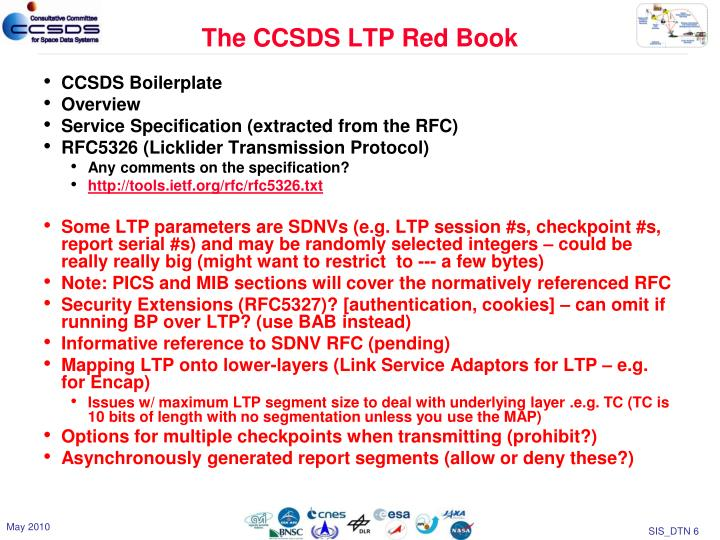 The CCSDS LTP Red Book
