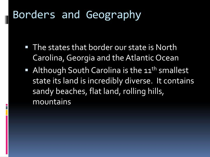 Borders and Geography