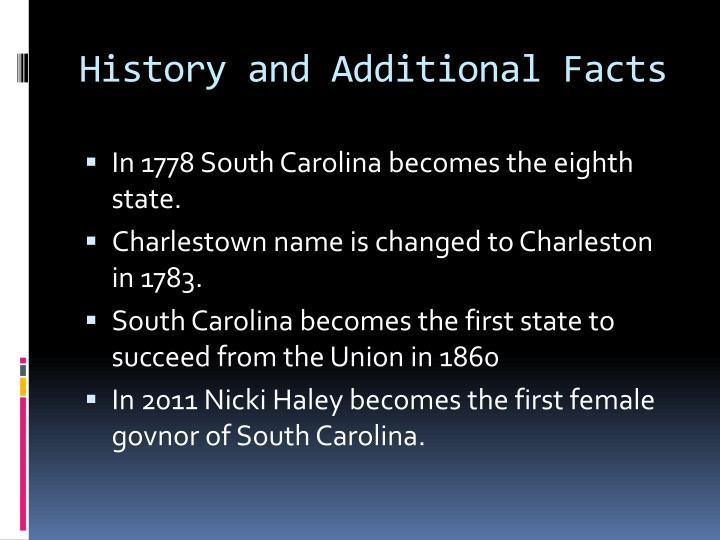 History and Additional Facts