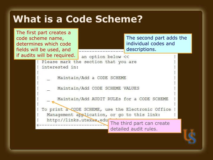What is a Code Scheme?