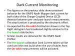 dark current monitoring