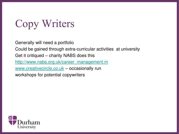 Copy Writers