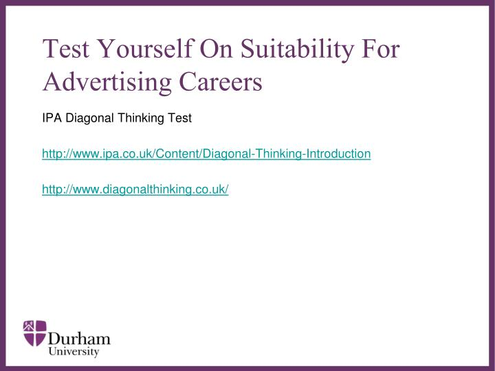 Test Yourself On Suitability For Advertising Careers