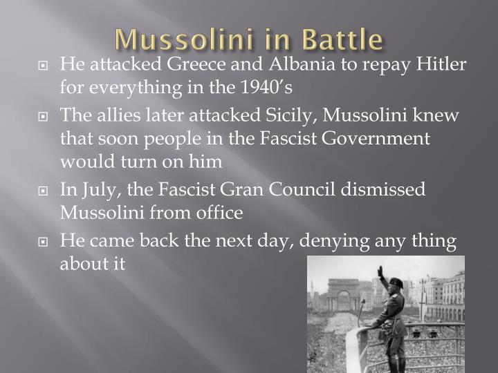 Mussolini in Battle