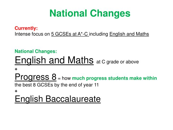 National Changes