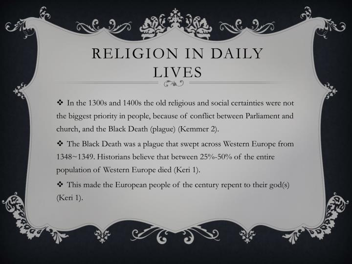 Religion in daily lives