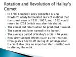 rotation and revolution of halley s comet