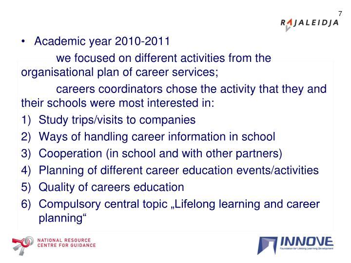 Academic year 2010