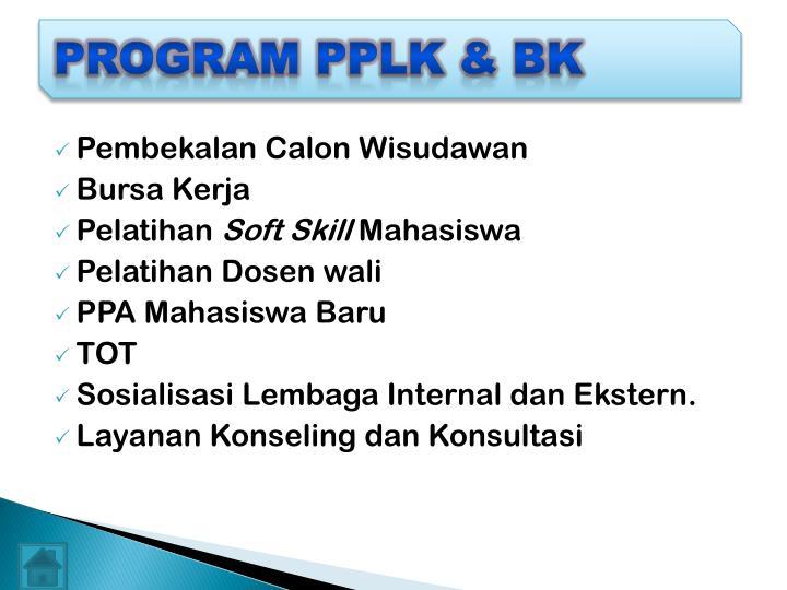 PROGRAM PPLK & BK