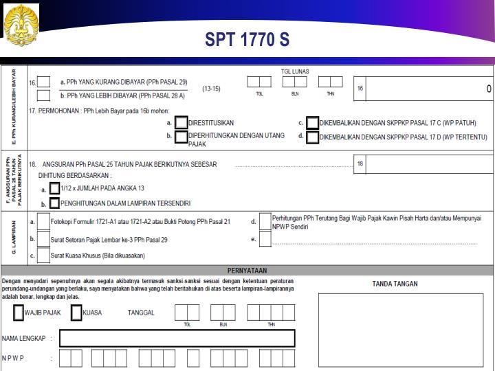 SPT 1770 S