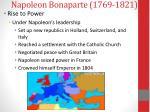 napoleon bonaparte 1769 18212