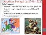 napoleon bonaparte 1769 18214