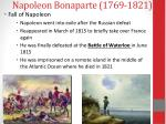 napoleon bonaparte 1769 18216