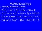 you do classifying1