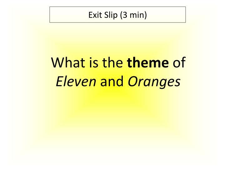 Exit Slip (3 min)