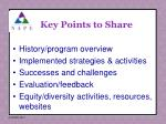 key points to share