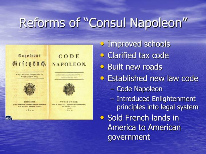 Reforms of consul napoleon