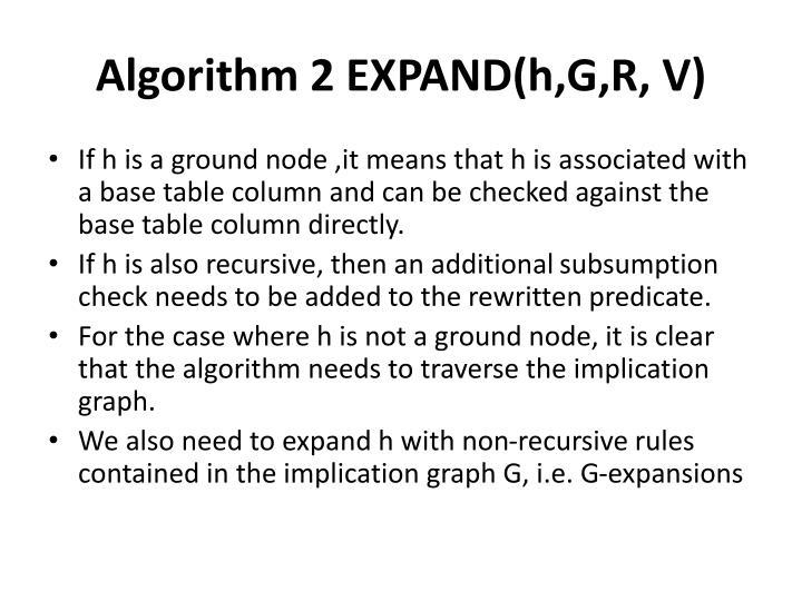 Algorithm 2 EXPAND(
