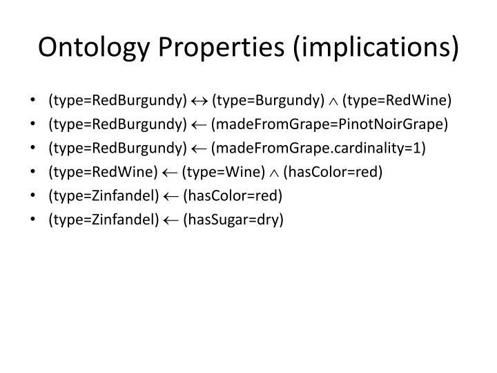 Ontology Properties (implications)