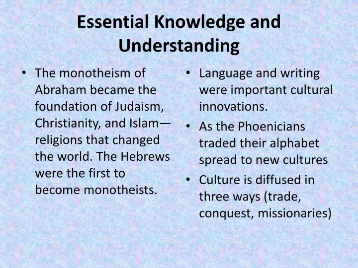Essential Knowledge and Understanding