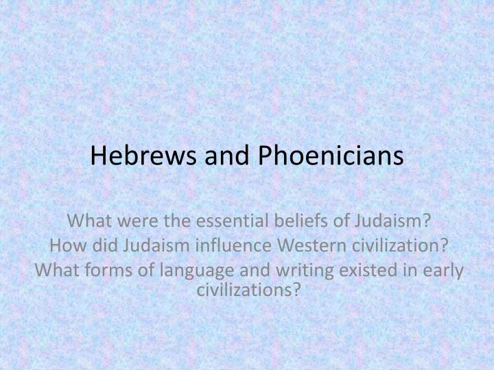 Hebrews and Phoenicians