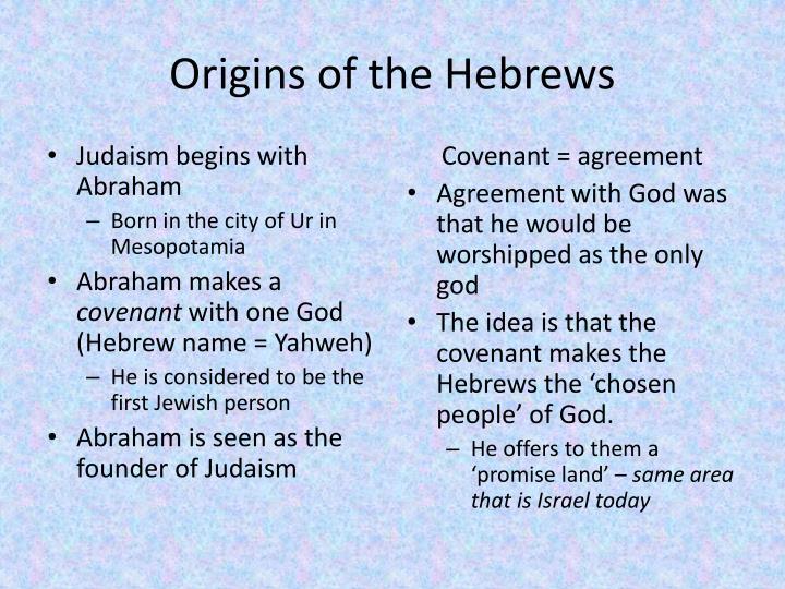 Origins of the Hebrews