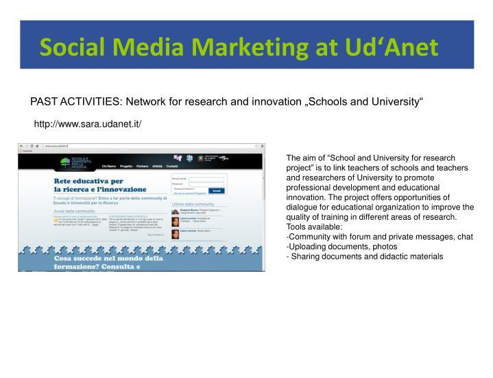 Social media marketing at ud anet1