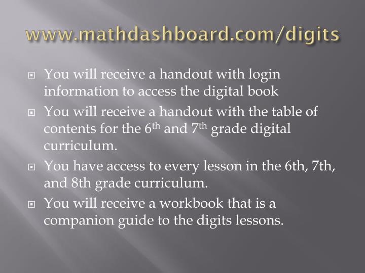 Www mathdashboard com digits