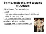 beliefs traditions and customs of judaism