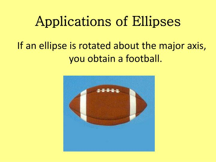Applications of Ellipses