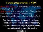 funding opportunities nida