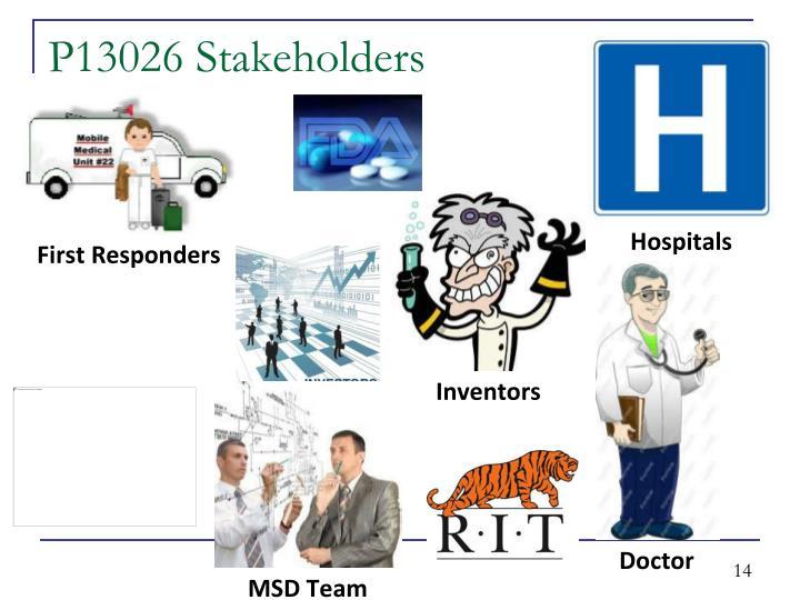 P13026 Stakeholders