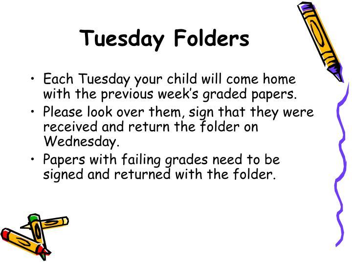 Tuesday Folders