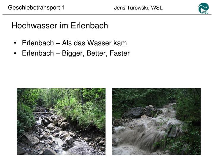 Hochwasser im Erlenbach