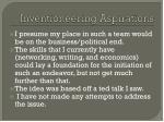 inventioneering aspirations1
