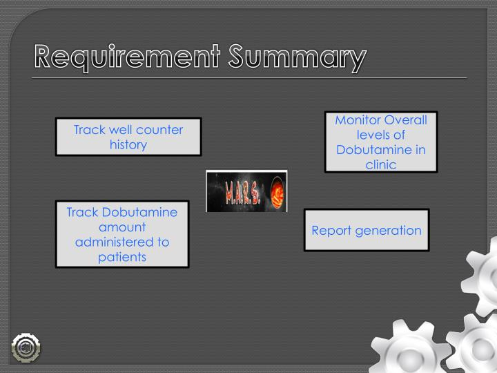 Requirement Summary