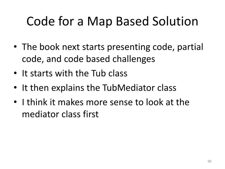 Code for a Map Based Solution