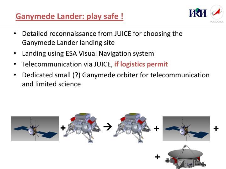 Ganymede Lander: play safe !