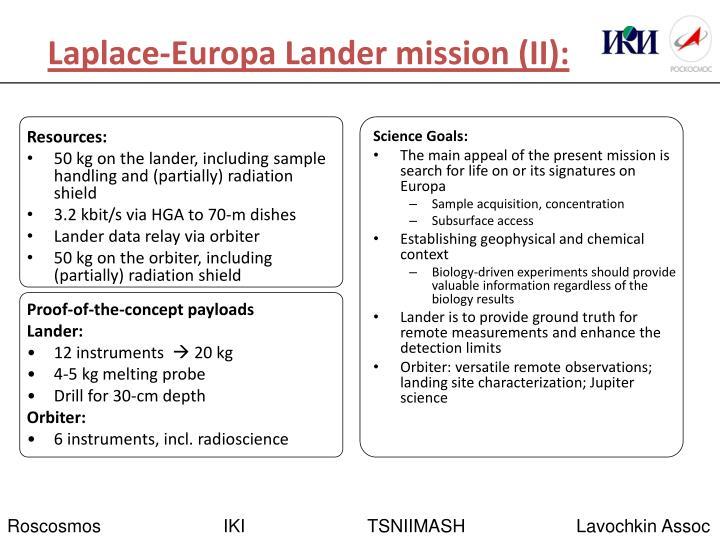 Laplace-Europa Lander