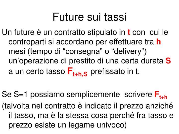 Future sui tassi