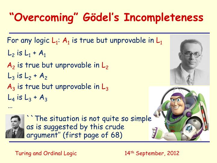 Overcoming g del s incompleteness