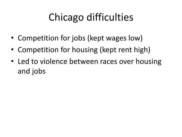 Chicago difficulties