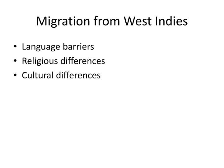 Migration from West Indies